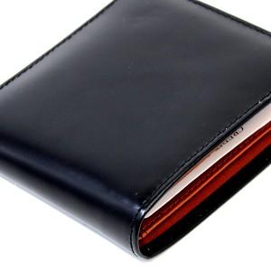 クーポン対象★[あす着]【送料無料】メンズ 財布 黒  luminio ルミニーオ 二つ折り財布 コードバン ホースハイド 馬革  luha1016