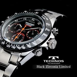 TECHNOS テクノス クロノグラフ ジルコニア・リミテッド 限定モデル メンズ 腕時計 T4102TB