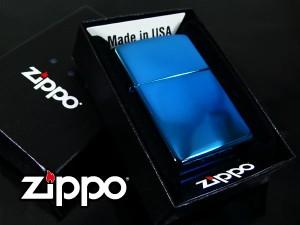 【送込】 Zippoサファイアブルー■#20446 【zippo/ジッポー/喫煙具/ギフト/限定品/アンティーク/コレクション/ラッピング】