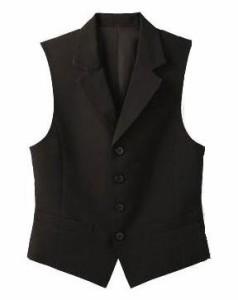 一日シルエットを保ってくれ万能な襟付【ベスト】(男女兼用)制服・作業着・飲食店・ユニフォーム・