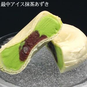 もちもち最中アイスクリーム(抹茶あずき)/お餅入り/モナカアイス/ひんやりスイーツ/モナカアイス/あす着