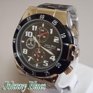 送料無料/Johnny Blues◆ダイバーズタイプ腕時計*ビッグフェイス*GV-008◆日本製ムーブ*スポーツアクティブ【M-W】