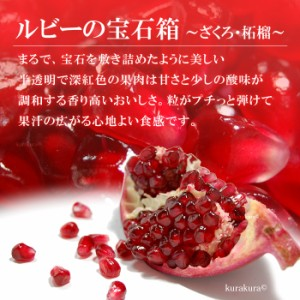 ザクロ(3-4玉/1kg前後)チリ産 ざくろ 柘榴 石榴 青果 送料無料
