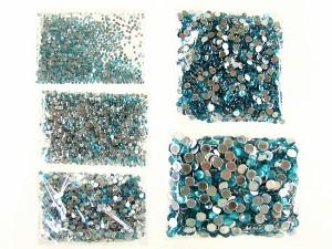 ★デコ電★アクリルストーン5種1万個ブルーAセット 1.5-5.0mm