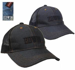 EDWIN 正規品 エドウイン デニムメッシュ6方キャップ exas