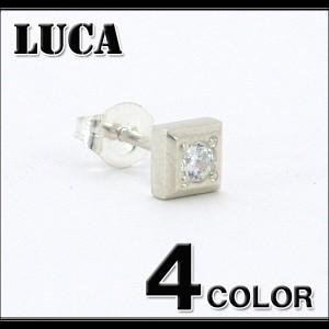 【LUCA】ハンドメイドキュービックシルバーピアス/全4色/メンエグメンナクロックキレイめサーフ天然石/LUCA-SP-002/6-30