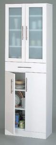 【送料無料!ポイント2%】ミストガラス使用。収納力たっぷり!カトレア食器棚60-180