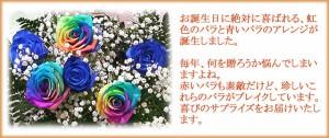 【誕生日】 【花】 レインボーローズ 夢のバラのアレンジ 【女性】