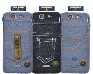 【Xperia SX SO-05D用】デニムデザインケース(ジーンズケース)保護ケース * ドコモ エクスぺリア SX SO-05D / カバー(dso05d-14)