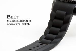 INTIMES(インタイムス)シチズン製ムーブ搭載!40mm シリコン ダイバー メンズ/ボーイズ/レディース 腕時計 選べる15色♪ IT044