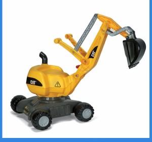 送料無料rolly toysロリートイズ ディガーCAT 421015■ドイツ製の働く車!乗り物おもちゃ/足けりタイプのショベルカー男の子