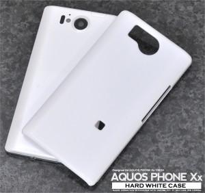 【AQUOS PHONE Xx 106SH用】ハードホワイトケース* SoftBank(ソフトバンク)アクオス フォン ダブルエックス 106SH用(s106sh-01wh)