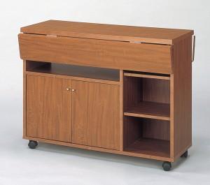 代引き不可 送料無料 NEW 両バタワゴン キッチン収納 ダイニング収納 ブラウン  クロシオ 92913 92915 KU009