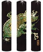 送料無料☆黒水牛高級印鑑・飛龍13.5ミリ☆ 実印・銀行印・認めに使えるはんこです