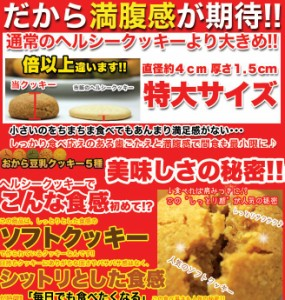 【送料無料】☆ヘルシー&DIET応援☆新感覚満腹おから豆乳ソフトクッキー1kg4袋/ダイエット/常温便