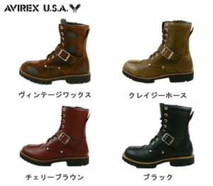 送料無料 AVIREX YAMATO AV2100 アビレックス ヤマト レザーブーツ ロングブーツ ライダースブーツ 本革 バイク 靴
