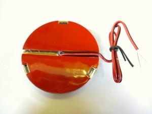 【LED反射板 リフレクターNEO 24V】薄くて便利なLEDレフレクター◆丸型アンバー/オレンジ