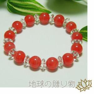 インカローズ★天然石◆ペルー産高級AAAA10mm&水晶ブレス