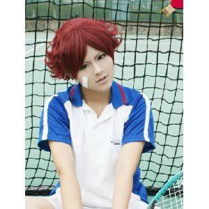 DW573  「テニスの王子様」 菊丸英二(きくまる えいじ)   風   ★ コスプレウィッグ +ウイッグネット
