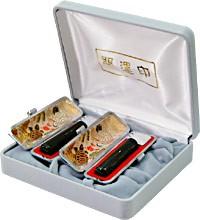 送料無料■高級黒水牛実印・銀行印2本セット☆お買い得 実印・銀行印・認めに使えるはんこです