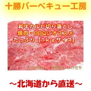 いけだ牛カルビ切り落とし1kg (500g×2)