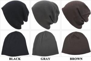 【大きいサイズ 帽子◆最大65cm】カラー無地ビッグニット帽子(ワッチ)