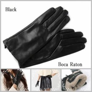 【初売りSALE】 Boca Raton最高級レディスレザー+カシミヤウール手袋・グローブ・本革手袋・温かい・冬ファッショングッズ■HN002