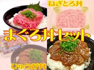 まぐろ丼セット☆ねぎとろ[3パック]&ひゅうが丼[2袋]セット☆うまいマグロ!【送料無料*一部地域を除く】
