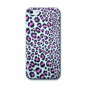 【今だけ 送料無料】 iPhone5 ハードケース Collaborn Cuddly Leopard_Aqua OS-I5-092 デザインケース サムライワークス