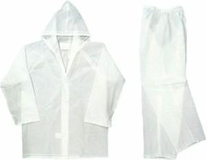 取外可能のフード付き&視界を確保する透明ツバ付き!クリアーレインスーツ ジャケット&パンツ 上下セット S〜3L 男女兼用