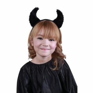 ボアデビルカチューシャブラック デビル 悪魔 カチューシャ  コスプレ コスチューム 衣装 仮装 ハロウィン パーティー イベント