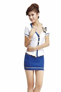 【即納】2色あり スチュワーデス コスチューム コスプレ制服 婦警(5618)