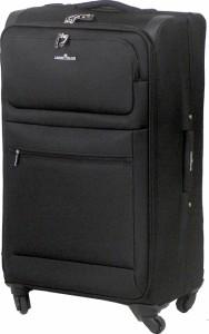 Super BigSizeソフトキャリーケース 大容量 76cm TSAロック 付き ≪黒(ブラック)≫ 98リットル 8泊以上≪送料無料≫