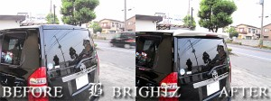 BRIGHTZ ヴォクシー ボクシー VOXY 70系 ZRR70 ZRR75 LED ハイマウント リア スポイラー REAR−SPO−009