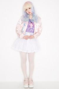 モデルAMOプロデュース グラデーションウィッグ LUNATIC LEMONY LOLLIPOP カーリー ヘヴン コスチューム 衣装