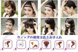 Chobits ちょびっツ風  ちぃ 髪飾り付き ★コスプレウイッグ+ネット☆W1411