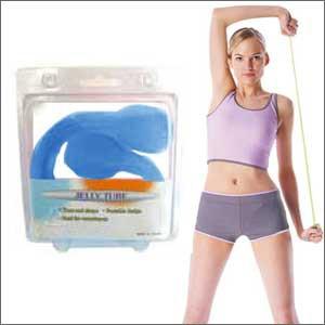肩甲骨ストレッチで背中美人&シェイプアップ JT-1035Bのび〜る®チューブ ブルー★インナーマッスルトレーニングで筋力UP!