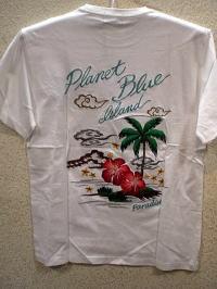 PLANET BLUE  プラネットブルー半袖Tシャツ
