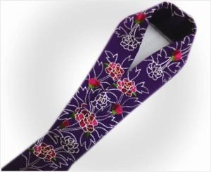 振袖成人式&袴・着物に ぎっしり刺繍半衿半襟紫地牡丹
