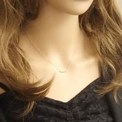 プラチナ ダイヤモンドネックレス セブンストーン 7石 Pt900 Pt850 ラインネックレス ペンダント