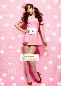 【即納】可愛いピンクカラーの看護婦のコスプレ ナースコスプレ アキバコスチューム ハロウィン  ナース(5103)