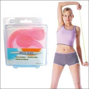 肩甲骨ストレッチで背中美人&シェイプアップ JT-1035Pのび〜る®チューブ ピンク★インナーマッスルトレーニングで筋力UP!