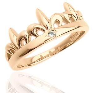 1本だけなら半額!選べる3色!人気のシンプル ティエラ王冠 シルバーペアリング|ブランド|ペアジュエリー|プレゼントに最適