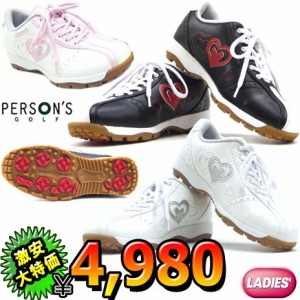 パーソンズ レディース 軽量 スパイクレス ゴルフシューズ PGS-2011