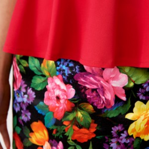 春夏ワンピース ミニワンピ S〜XL 大きいサイズ ペプラムワンピース キャバ 七分袖 セットアップ風ミニドレス 花柄ミニワンピース ピンク