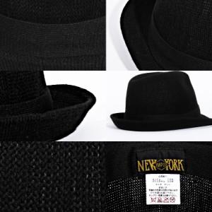 麦わら帽子 メンズ ハット 帽子 ストローハット 全4色 ニューヨークハット NEWYORKHAT 中折れ ハット キャップ ペーパーハット