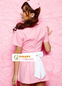 【即納】可愛いピンクカラーの看護婦のコスプレ ナースコスプレ アキバコスチュームハロウィンクリスマス(5103)