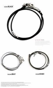 【Arctic Plant】 日本製 ハンドメイド ワックスカラーコード 3連 ブレスレット メンズ おしゃれ カジュアル バングル アクセサリー 赤