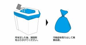 ラビンエコ 洋式簡易トイレセット(凝固剤&汚物袋10回分付)BR-001■頑丈・丈夫なポータブルトイレ!防災グッズ/非常用トイレ