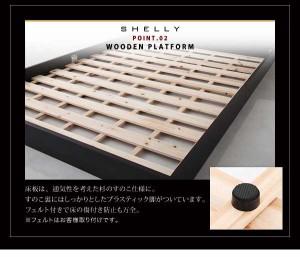 【送料無料】モダンデザインローベッド/ポケットコイルマット付き/シングルサイズ